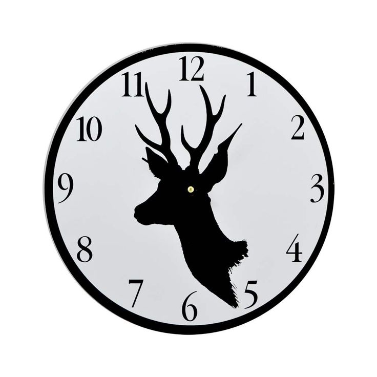 clock deer black