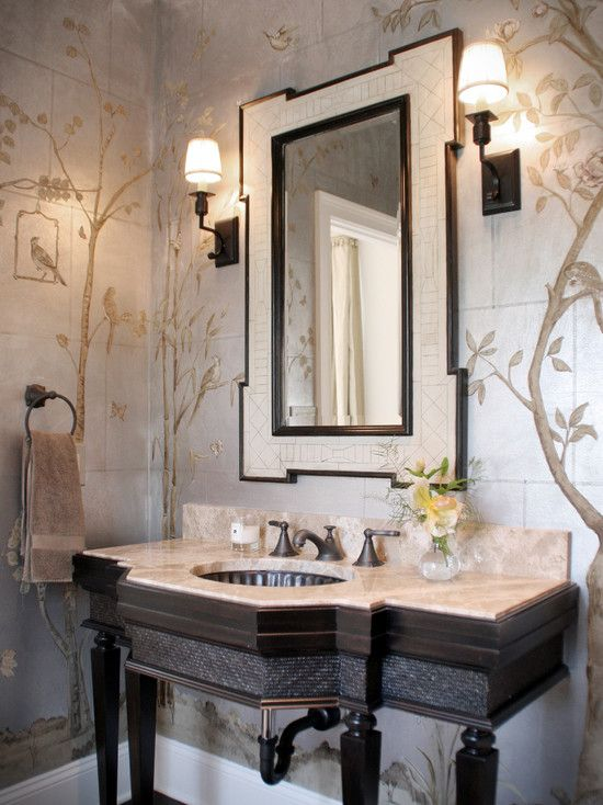 1000 images about powder room on pinterest powder room for Gorgeous powder rooms