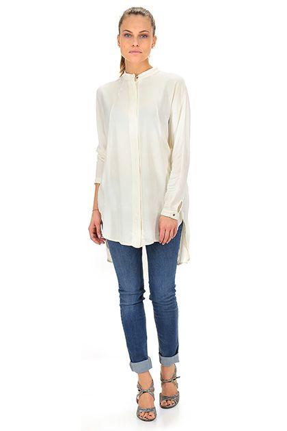 Kocca - Camicie - Abbigliamento - Camicia a manica lunga in viscosa. Collo alla coreana, spacco sulla schiena.La nostra modella indossa la taglia /EU XS. - 60003 - € 95.00