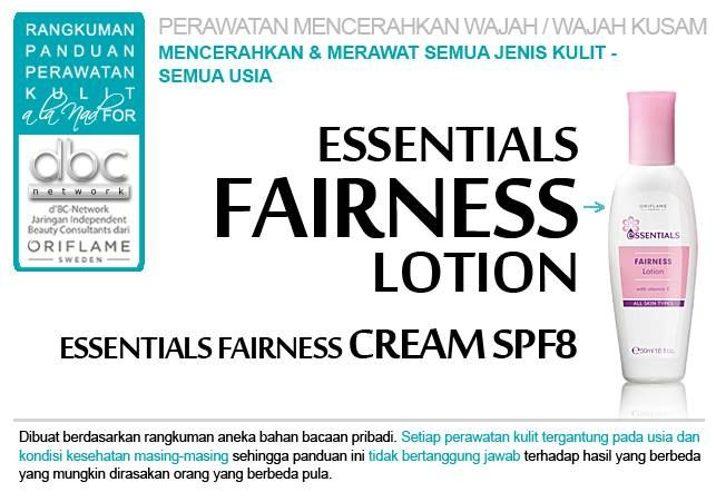 Essentials Fairness Lotion | Essentials Fairness Cream SPF 8 |   #perawatan #mencerahkan #wajah #kusam  #semuajenis #kulit #semuausia #tipsdBCN #Oriflame