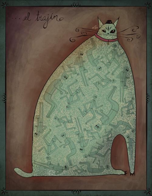 El trajín  ✪ Illustration By: Silvia Prietov ✪