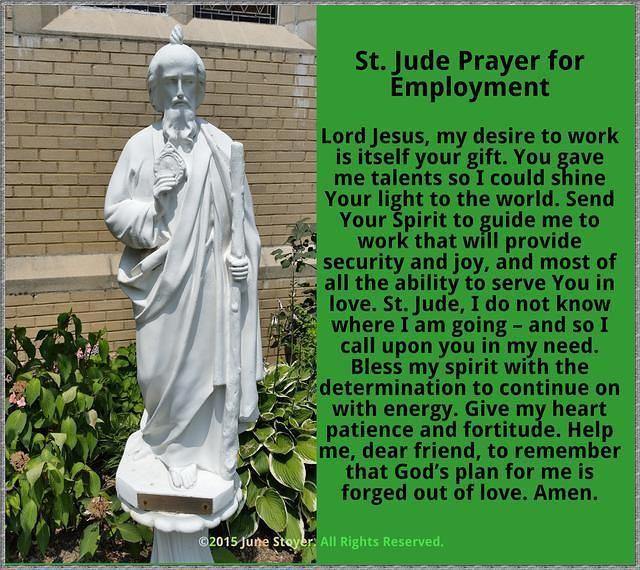 St. Jude Prayer for Employment