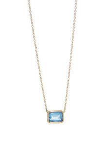 Simple Blue Topaz Necklace