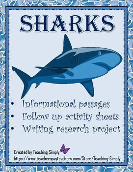Sharks Reading Passages and Activities – Teaching Simply