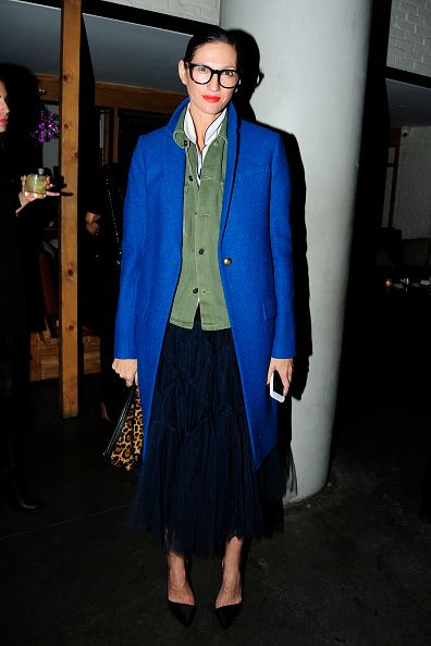 Jenna Lyons attends the Paramount Pictures with The Cinema Society Svedka Host the After Party for 'Office Christmas Party' at Mr Purple at the Hotel...