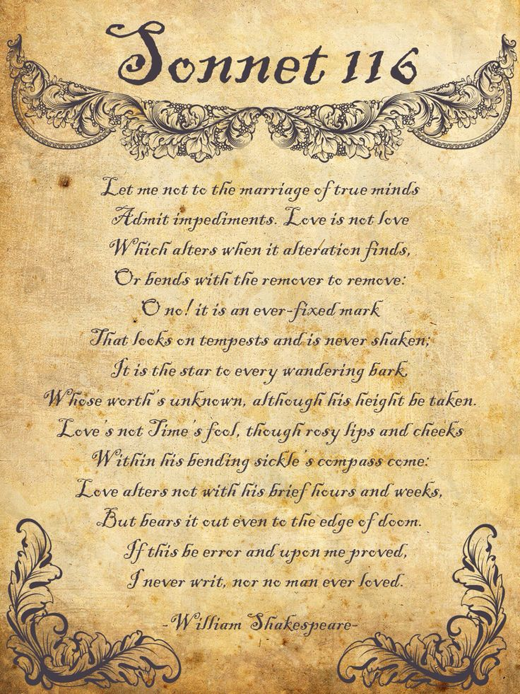 William Shakespeare Sonnet 116