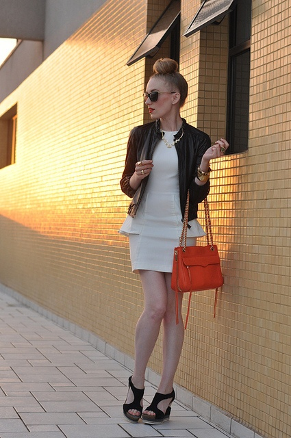 dress: h & m / jacket: c/o juicy couture (old) / bag + shades: c/o rebecca minkoff /  shoes: c/o tsuboJuicy Couture, Rebecca, Black White, Inspiration Outfit, Modern Peplum, Fashion Snap, Fashion Bloggers, Photography Inspiration, Fantasy Closets