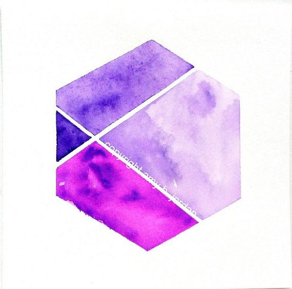 how to make purple colour in watercolour