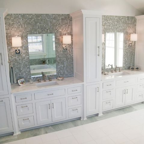 Love The Tile Behind The Mirror