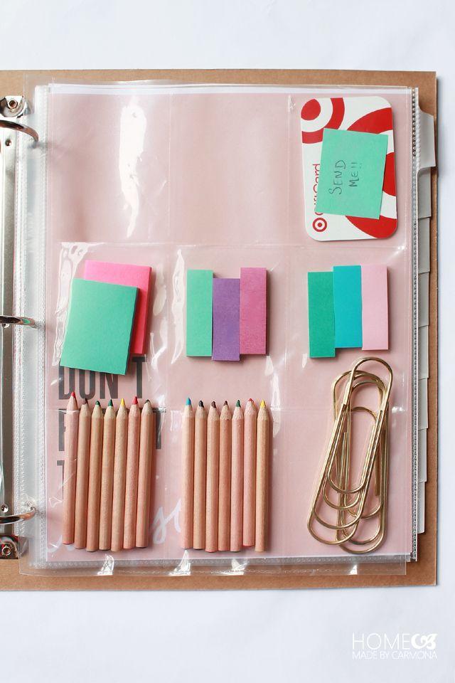 Best 25 binder storage ideas on pinterest file binder for Home planning binder