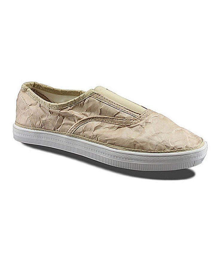 This Unstitched Utilities Beige Hang Up Slip-On Shoe by Unstitched Utilities is perfect! #zulilyfinds