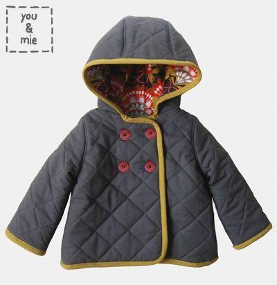 kostenlose anleitung kinderjacke kindermantel nähen / free pattern sewing jacket for kids toddlers
