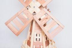 WNH3,wiatrak drewniany ogrodowy ,wiatraki ogrodowe ,producent,dekoracje z drewna ,ogród ,garden decorations,garden deco,wood