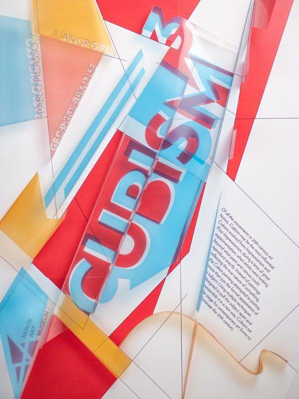 3D Cubism Poster by Kareem Taftaf, via Behance