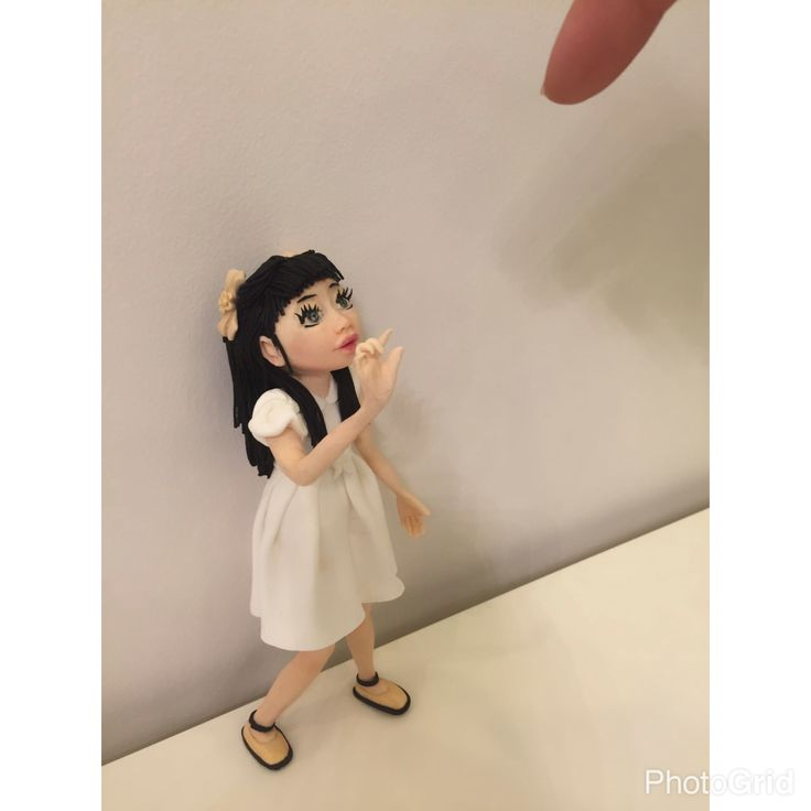 Little girl ,sugar art ,cake topper ,fondant figure