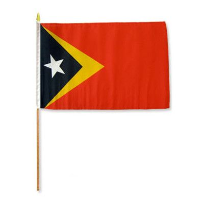 FlagsImporter East Timor (Timor Leste) Traditional Flag and Flagpole Set