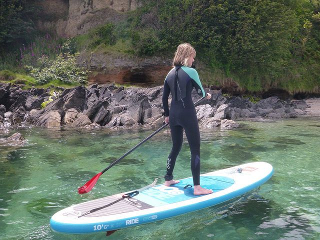 Crystal clear waters - SUP Maenporth Cornwall with Caroline, Kate & Annie   by SUPinaBag UK
