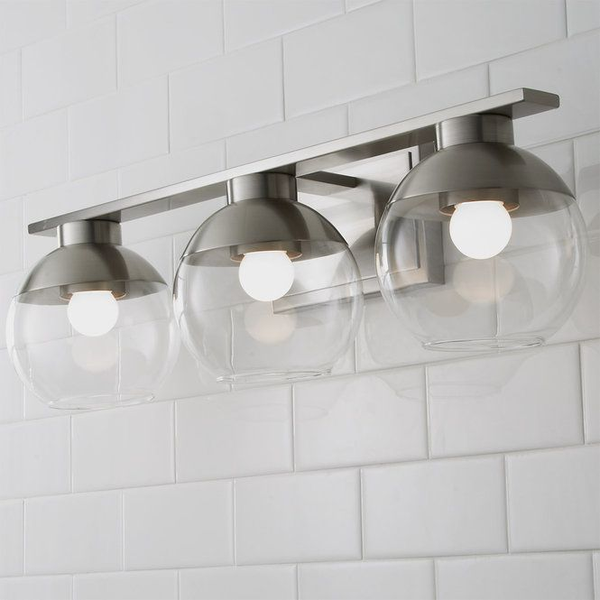 Metal Dipped Sphere Vanity Light 3 Light Vanity Lighting