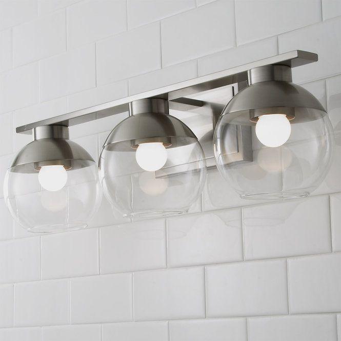 Metal Dipped Sphere Vanity Light 3 Light Vanity Lighting Vanity Light Bar Modern Bathroom Lighting