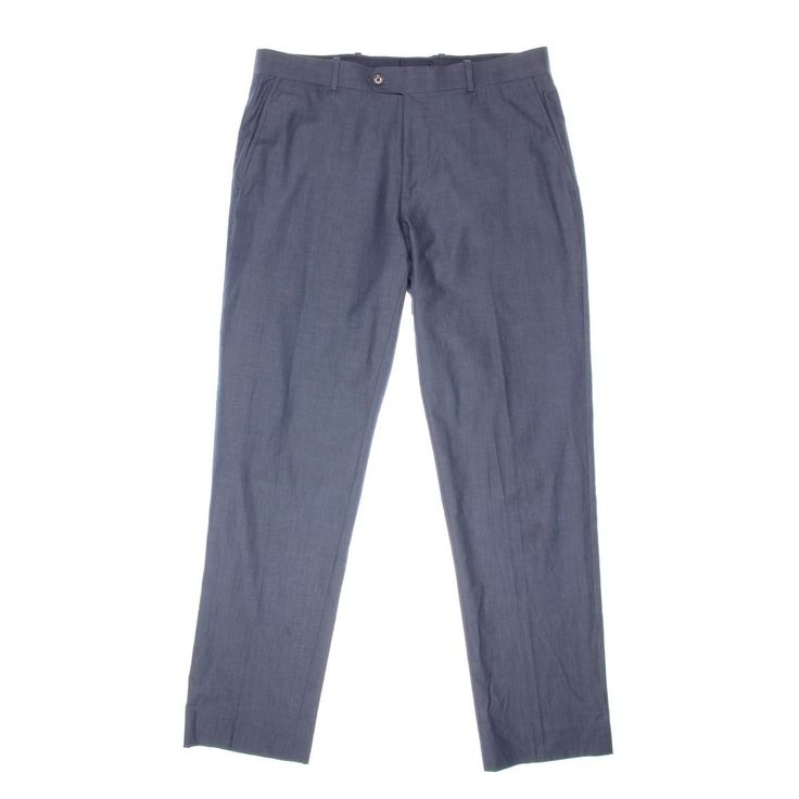 Bar III Mens Chambray Slim Fit Dress Pants