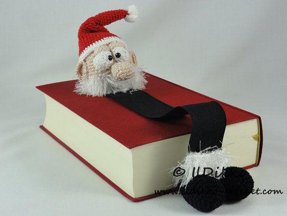 Amigurumi Crochet Pattern Santa Claus Bookmark por IlDikko en Etsy