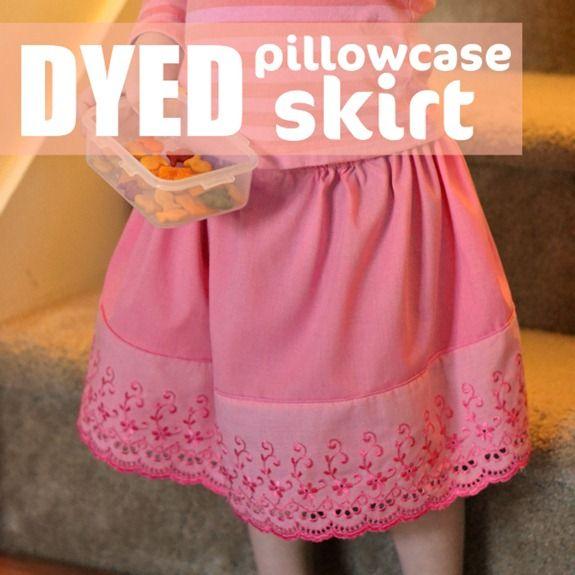 Cutie-pie refashion by Beckie FarrantLittle Girls, Sewing Machines, Pillowcases Skirts, Rit Dye, Diy Pillowca, First Sewing Projects, Dyed Pillowcases, Pillowca Skirts, Diy Girls