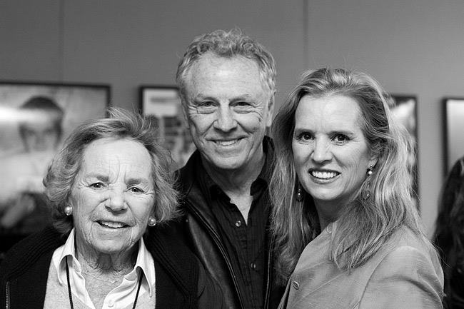 Ethel Kennedy, Morris Dees and Kerry Kennedy in the Civil Rights Memorial Center.