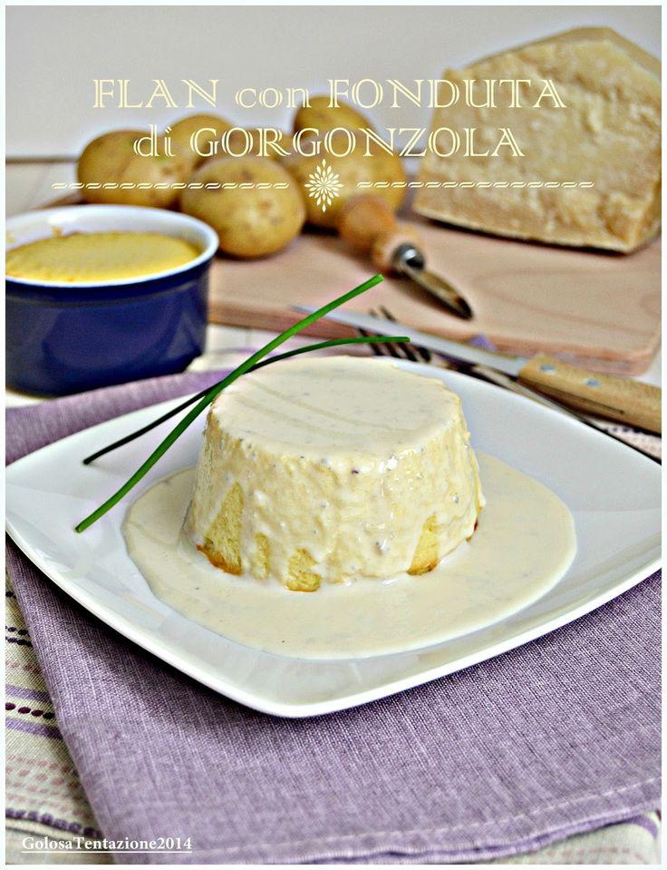 Flan con fonduta di gorgonzola