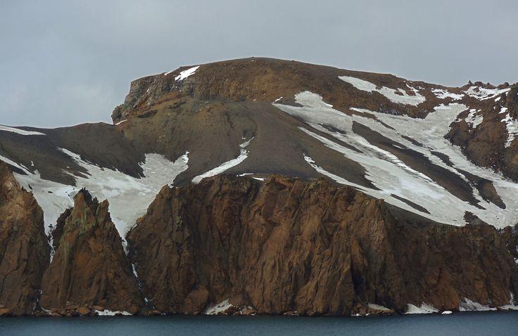 Isla Decepción, pperfil del suelo.