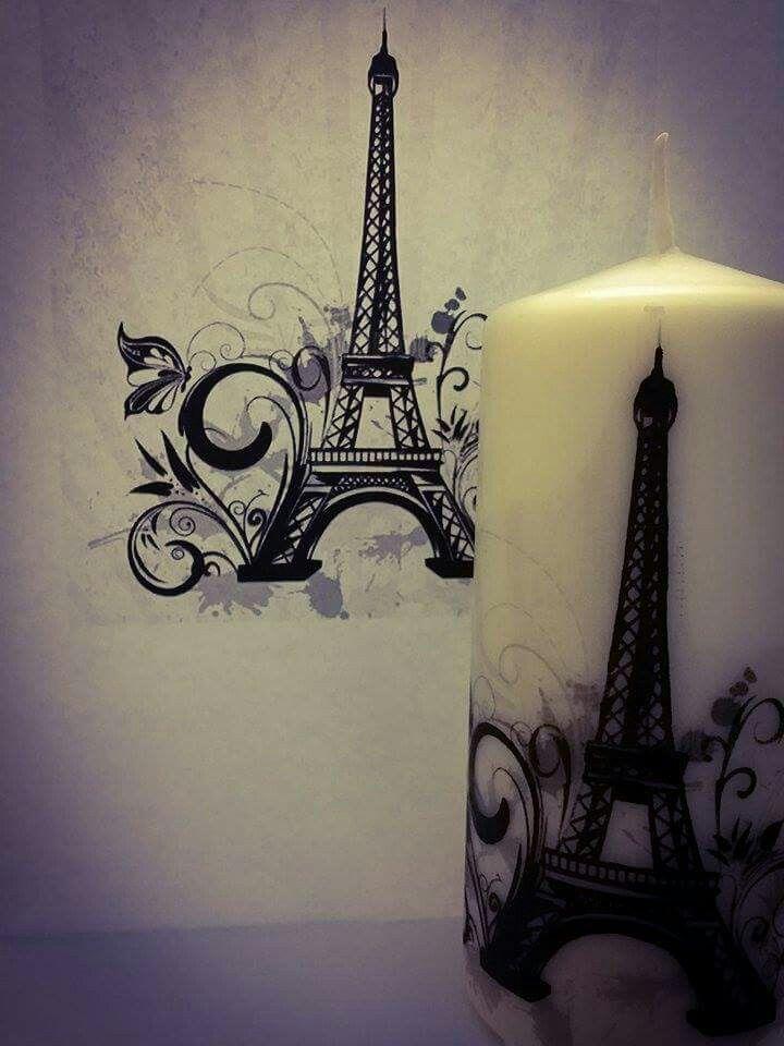 Candela personalizzata Paris mon amour!❤❤❤❤