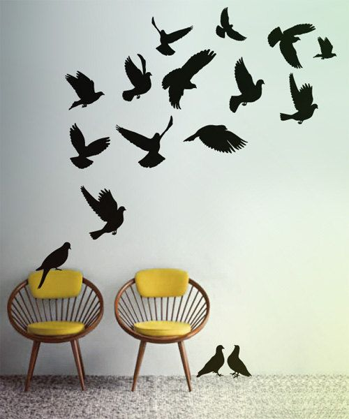 Doves++Wall+decals+vinyl+stickers+by+LivingWall+on+Etsy,+$35.00