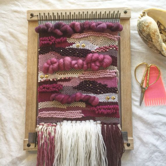 Weaving Loom Kit Beginners Loom Lap Loom DIY by NeonKnotDesigns