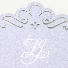 The monogram was taken from the Monogram Design poster I made for them on a different application.