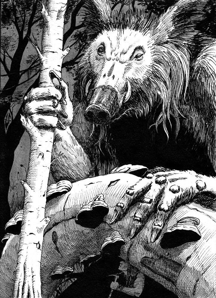 Robert Holdstock: Mythago wood | Urscumug by SergiyKrykun | #book #robertholdstock #wood #mythago #fanart Pinned from
