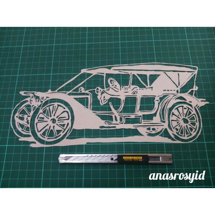 #Oldcar #papercut
