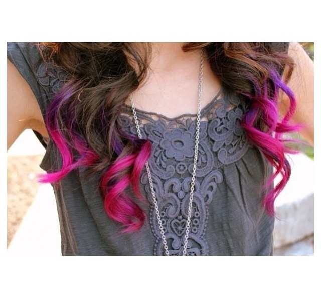Gorgeous Tip dyed hair!