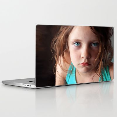 Portrait - the day she was sick and didn't want to smile Laptop & iPad Skin $30.00