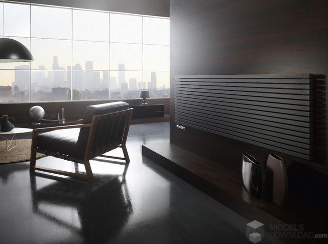 Okno na świat, modern living room | Grzejnik Enix