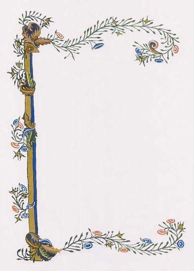 medieval illuminated borders - Google Search