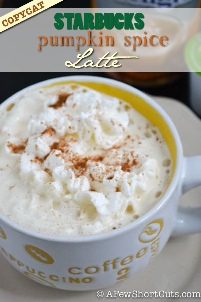 Copycat Starbucks Pumpkin Spice Latte - SO EASY! Just be sure to add sugar when you add the creamer.