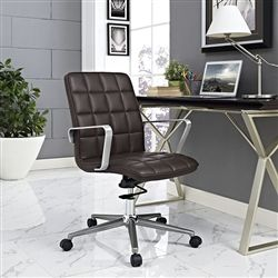 Modway Tile Collection Mid Century Modern Swivel Chair For Home Office,  Private Office, And