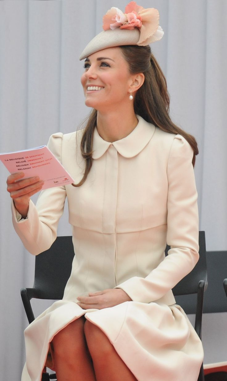 Kate receives her own pamphlet.  *****   Ivory coat dress worn in Belgium