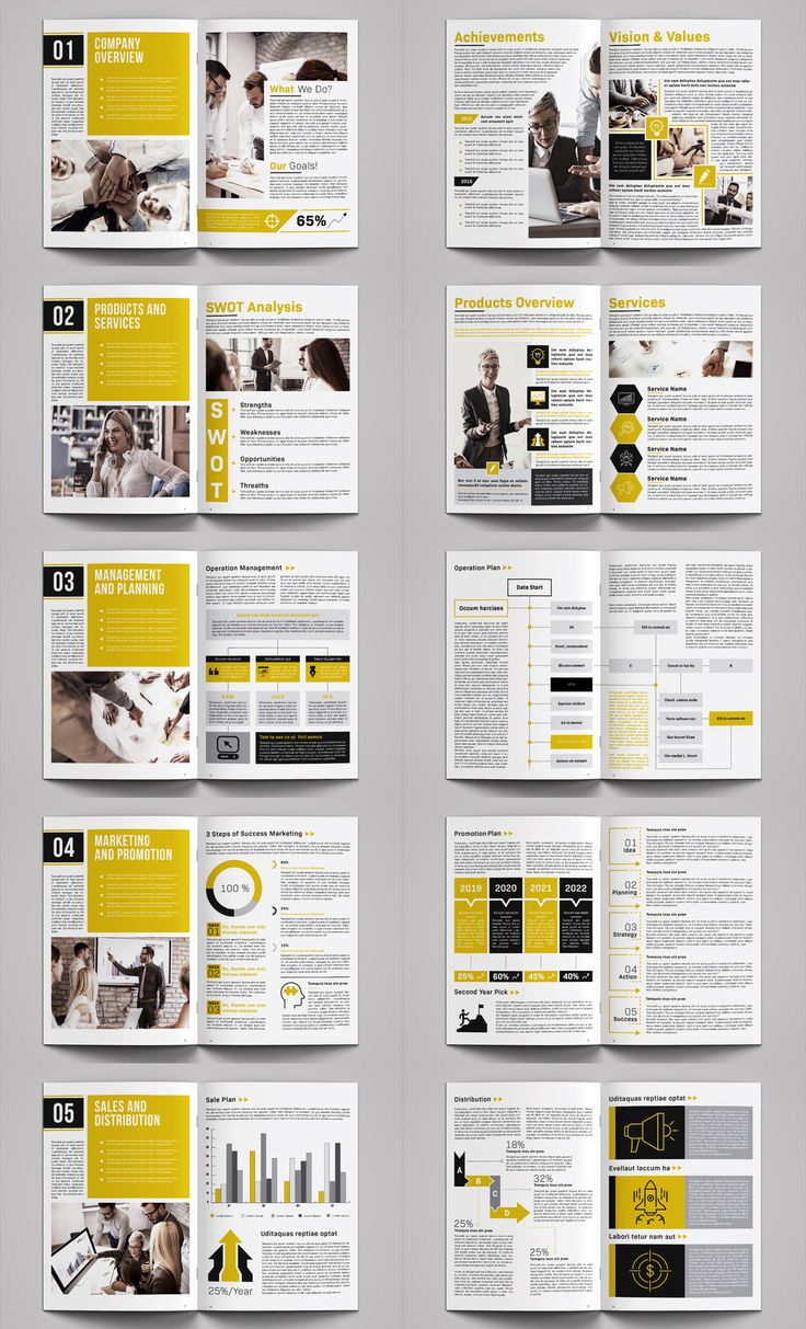 Business plan brochure template INDD Newsletter design