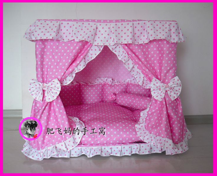 Sweet Princess Dog Cat handmade bed house Pink S,M | eBay