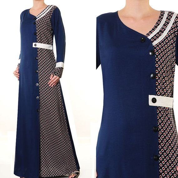 2641 Fashion Casual Shirt Dress Ladies Islamic Abaya