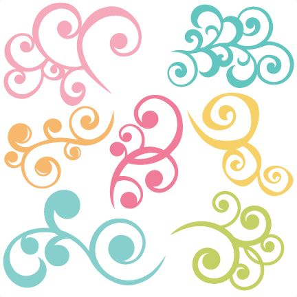 Swirls Set Of 7 SVG files swirl svg cut files swirl svg files for scrapbooking free svgs free svg cut files