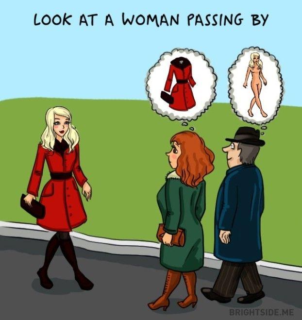 Der Unterschied zwischen Mann und Frau, erklärt in 14 Bildern.