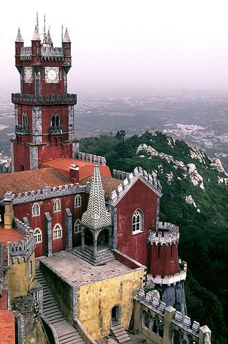 The Pena National Palace is a Romanticist palace in São Pedro de Penaferrim, municipality of Sintra, Portugal.