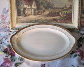Platter, Taylor Smith Platter, Vintage Platter Gold Trim Golden Jubilee 22 Carat Gold, Vintage Dishes, Vintage Kitchen, Vint Home Decor S
