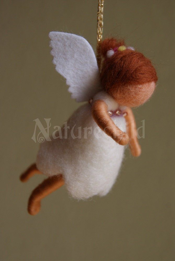diy angel ornament | Guardian Angels - felted work - Naturechild - a life handcrafted